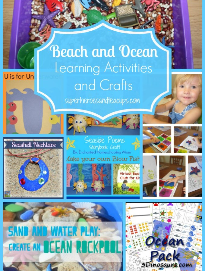 Beach and Ocean Learning Activities and Crafts