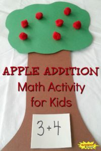 Apple Addition Math Activity for Kids