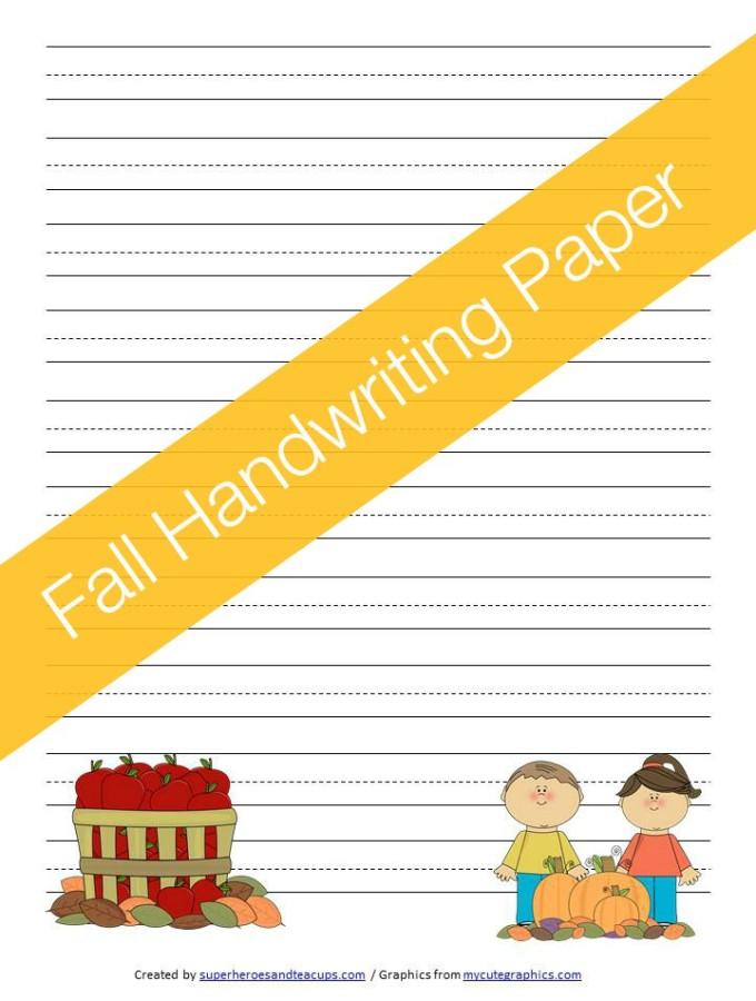 Fall Handwriting Paper Free Printable
