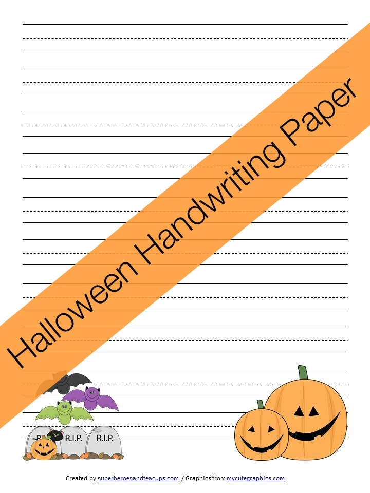 Free Printable   Halloween Handwriting Paper  Handwriting Paper Printable Free