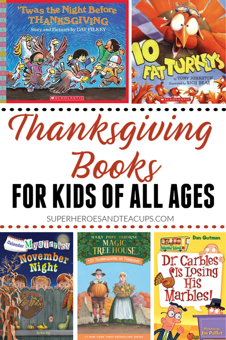 Thanksgiving Books for Kids of All Ages