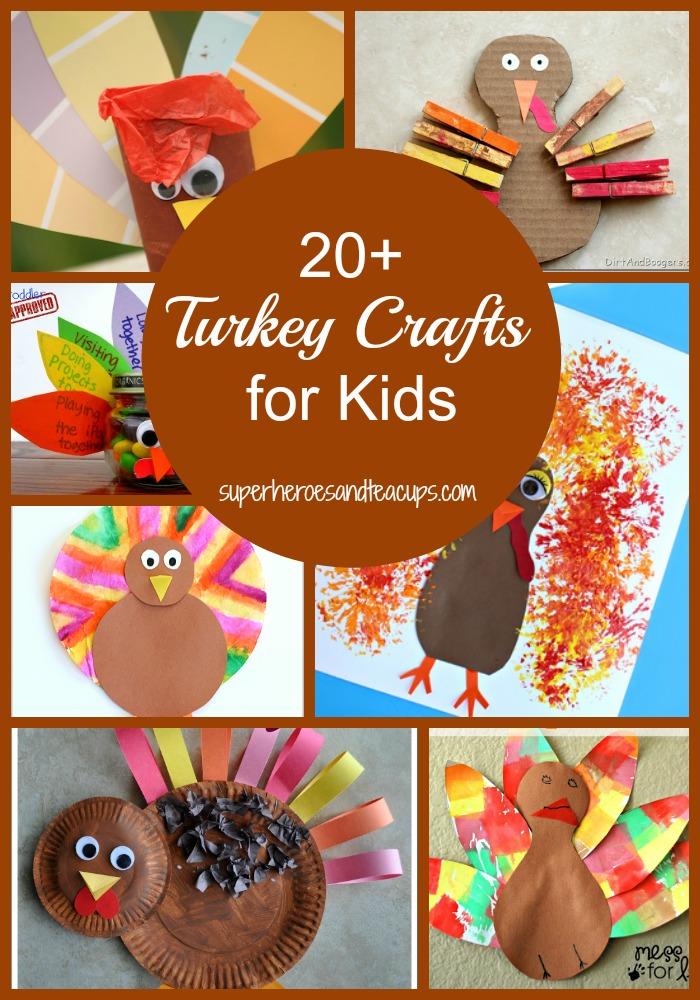 20+ Thanksgiving Turkey Crafts for Kids