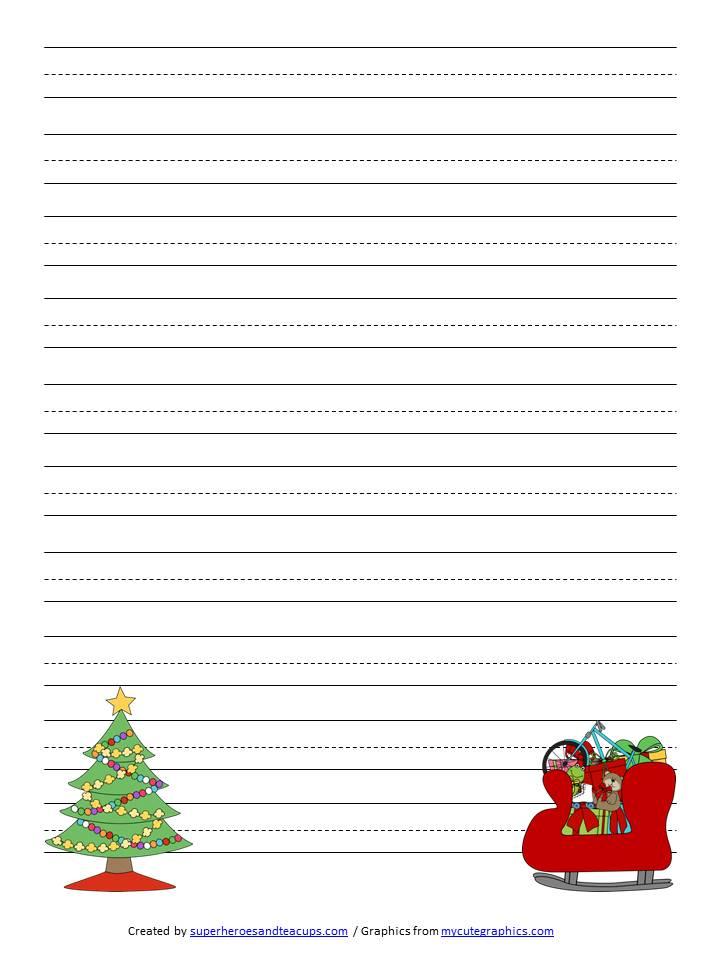 Christmas Handwriting Paper Free Printable