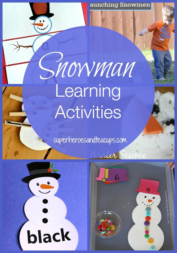 Snowman Learning Activities