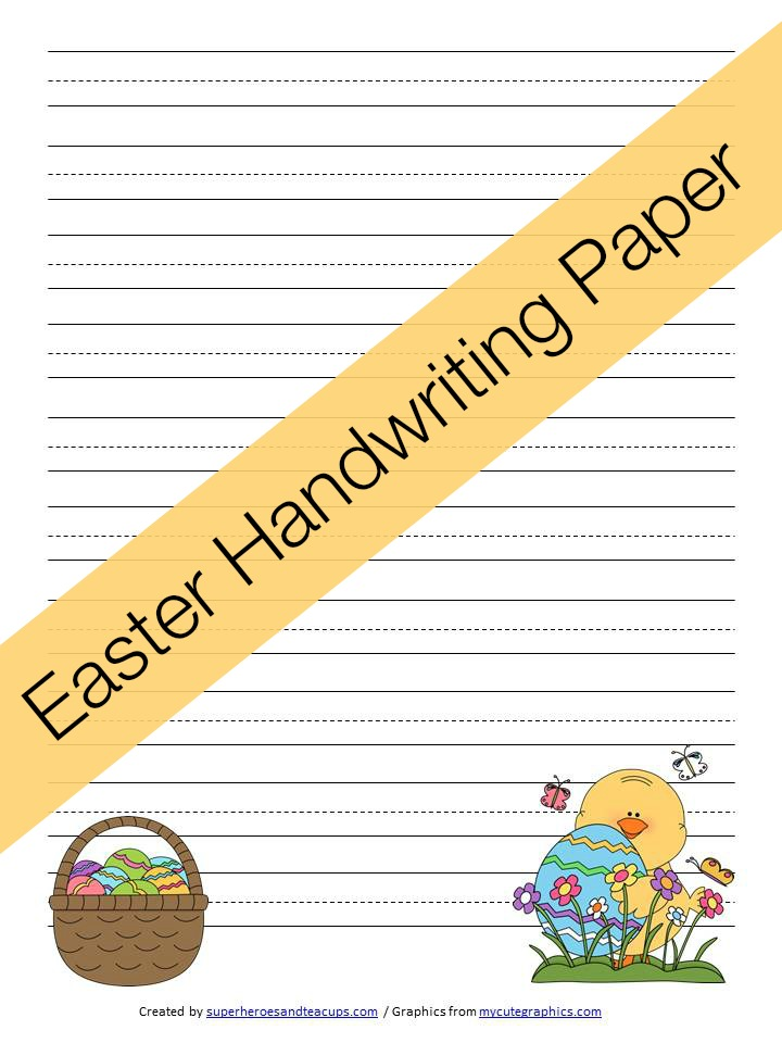 Easter Handwriting Paper