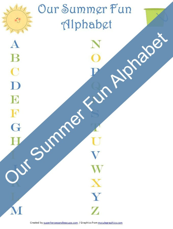 Our Summer Fun Alphabet Free Printable