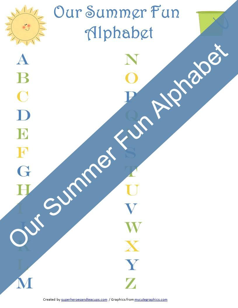 Our Summer Fun Alphabet Printable