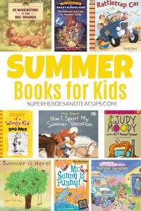 Summer picture books and summer chapter books for kids.
