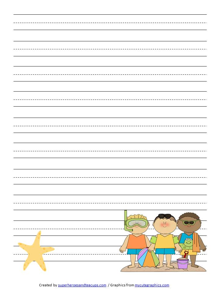 writing paper for kids template This friendly letter template helps guide the layout of a personal or business letter helps teach young students communication skills free to download and print.