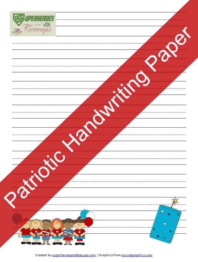 Free Printable: Patriotic Handwriting Paper