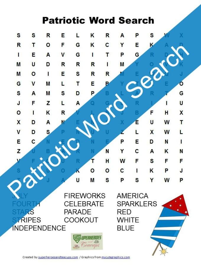 Free Printable: Patriotic Word Search