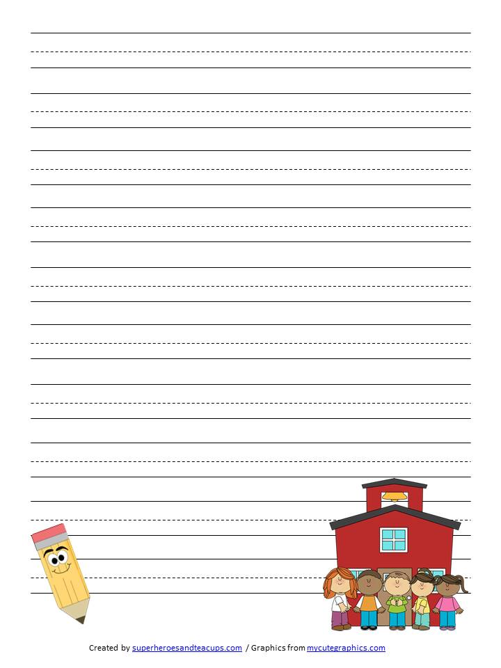 to school handwriting paper printable back to school handwriting paper