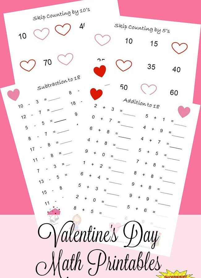 Valentine's Day Math Printables