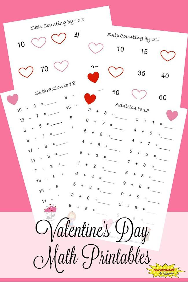 valentine 39 s day math printables. Black Bedroom Furniture Sets. Home Design Ideas