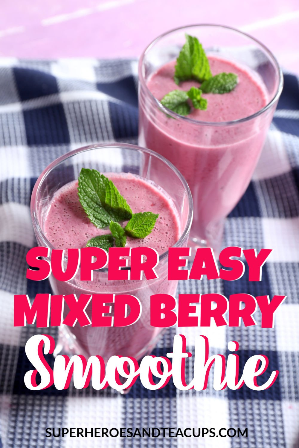 Super easy mixed berry smoothie.