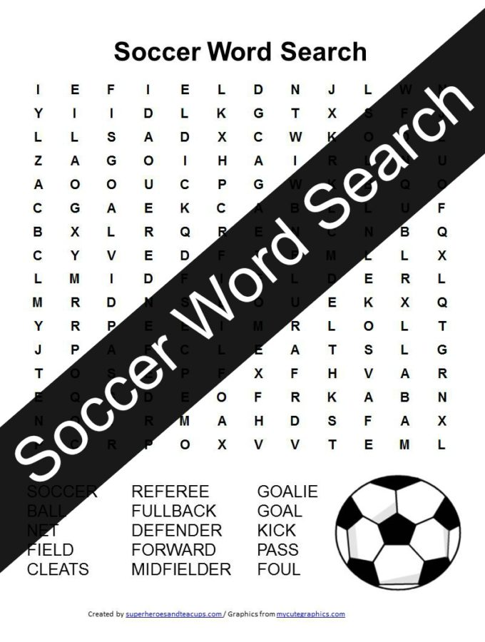 Soccer Word Search Free Printable
