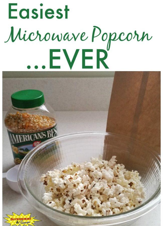 Easiest Microwave Popcorn Ever