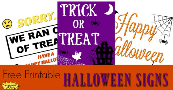 image regarding Trick or Treat Signs Printable named 3 Enjoyable Halloween Signs and symptoms in the direction of Support Your Relatives Rejoice