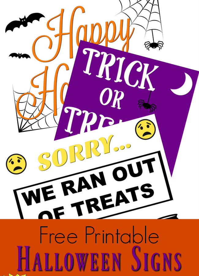 3 Fun Halloween Signs to Help Your Family Celebrate