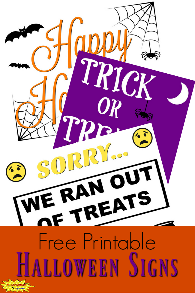 photo regarding Halloween Signs Printable named 3 Enjoyable Halloween Indicators towards Assist Your Household Rejoice