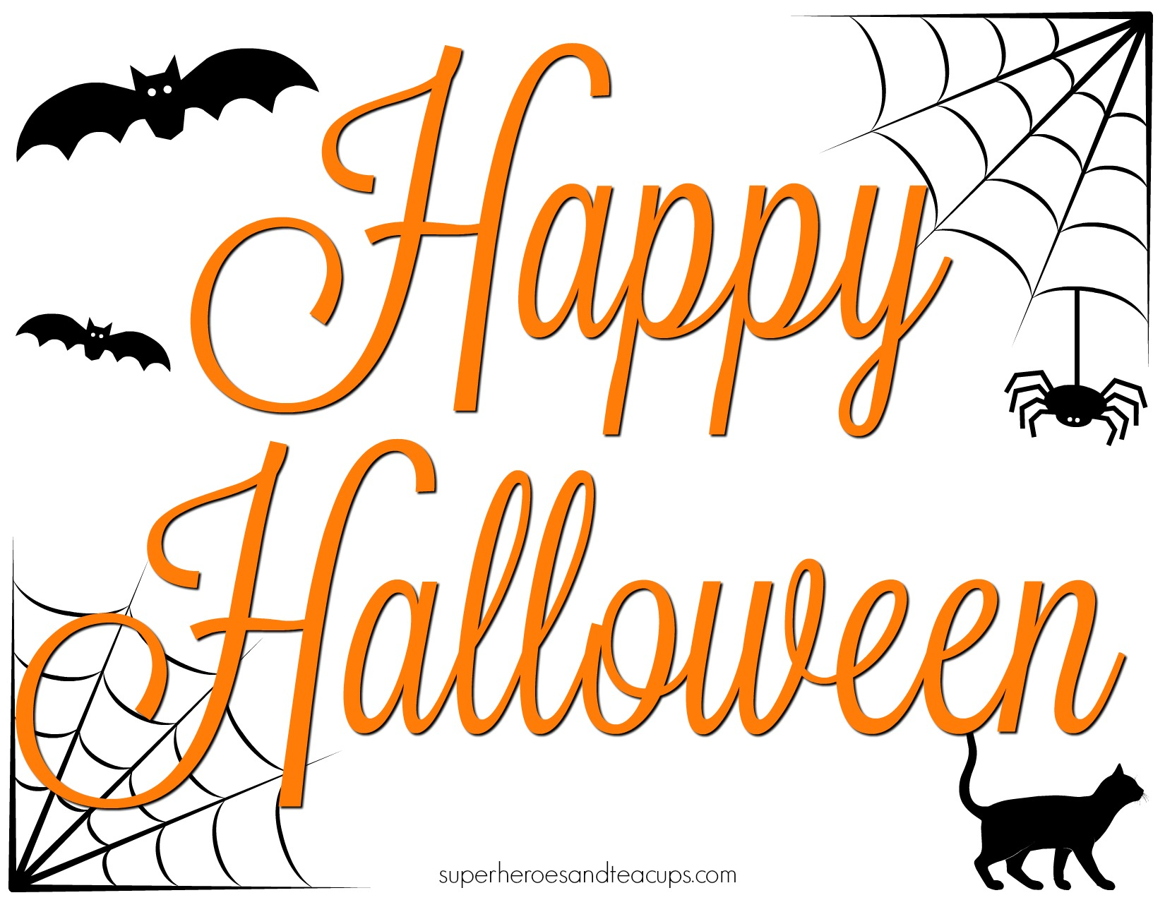 photo relating to Halloween Signs Printable named 3 Exciting Halloween Signs and symptoms in direction of Aid Your Relatives Rejoice
