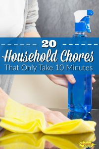 20 Household Chores That Only Take Ten Minutes