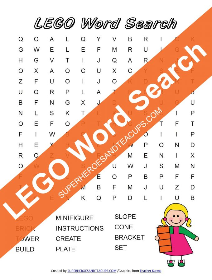 LEGO Word Search Free Printable