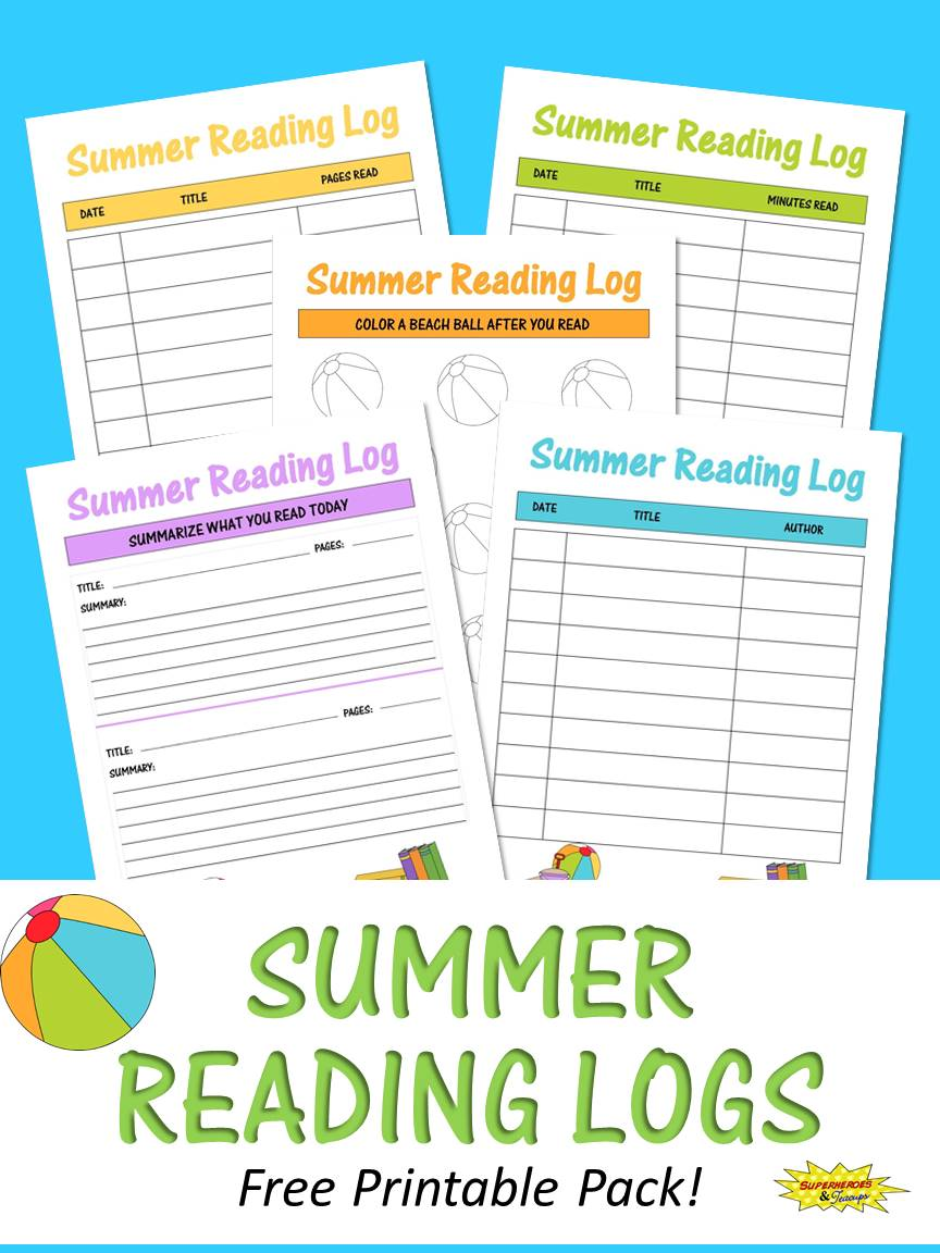 Summer Reading Logs Free Printable Pack