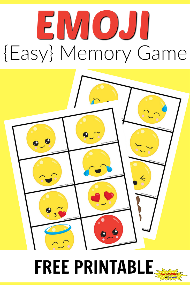 graphic regarding Printable Memory Game known as Totally free Printable Emoji Memory Match for Young children