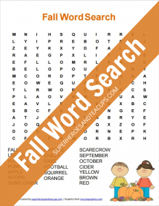 Fall Word Search Free Printable