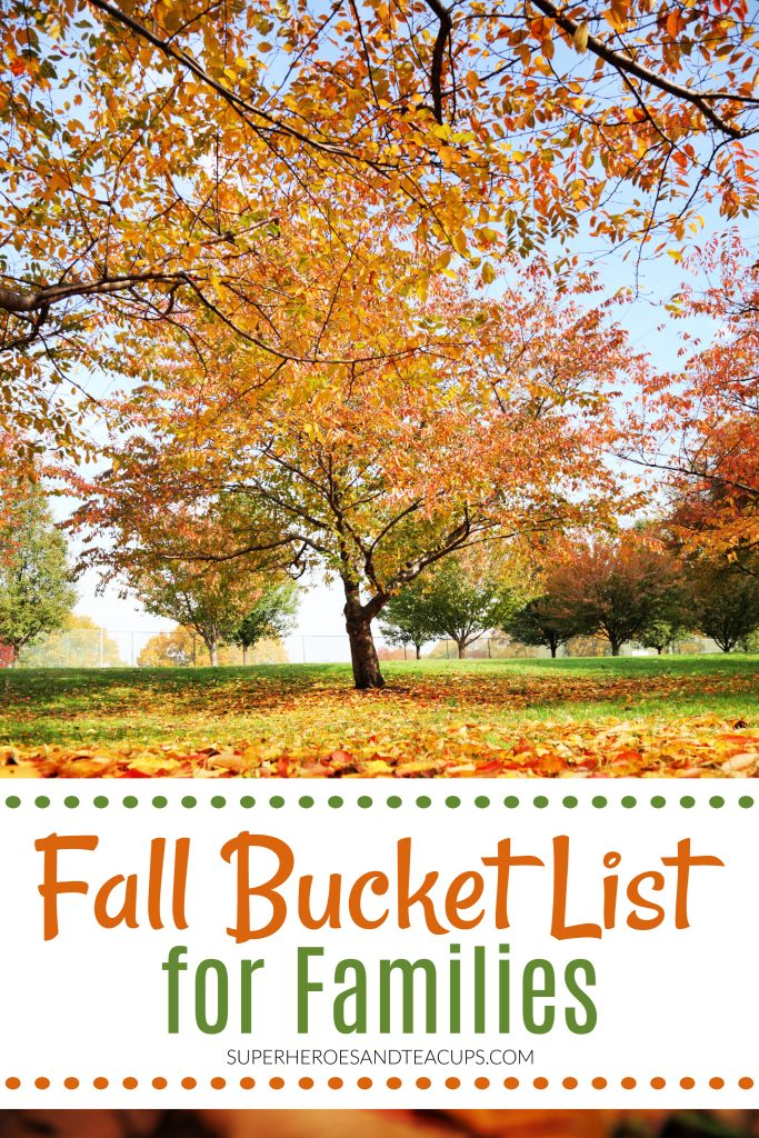 Free Printable Fall Bucket List for Families
