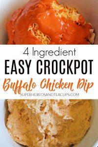 Easy Crockpot Buffalo Chicken Dip