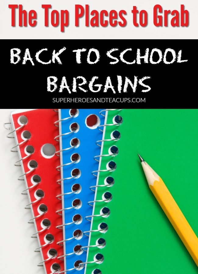 Top Places to Grab Back to School Bargains