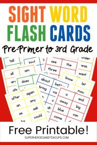 Flash Cards for the Dolch Sight Words