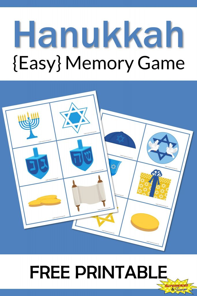 Hanukkah Memory Game Free Printable