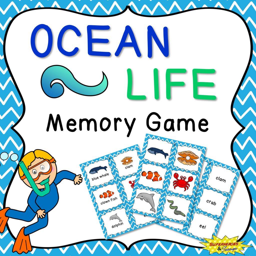 Ocean Life Memory Game