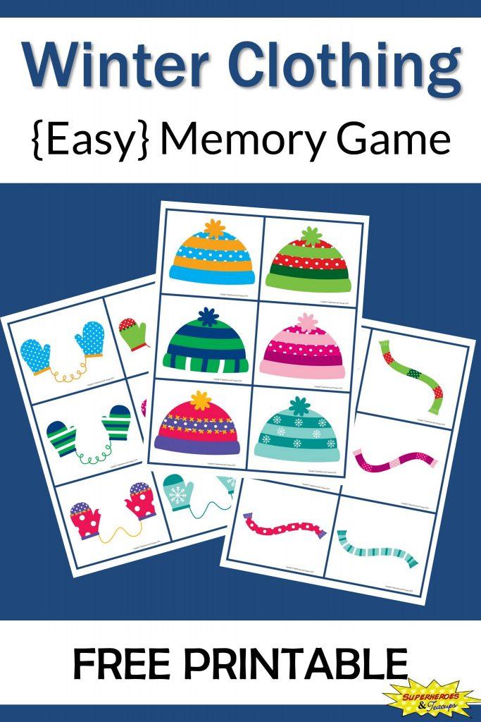 Winter Clothing Memory Game
