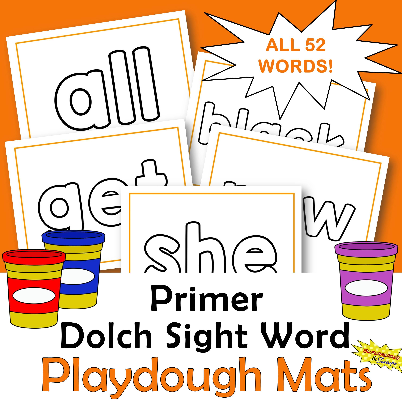 Primer Dolch Sight Word Playdough Mats