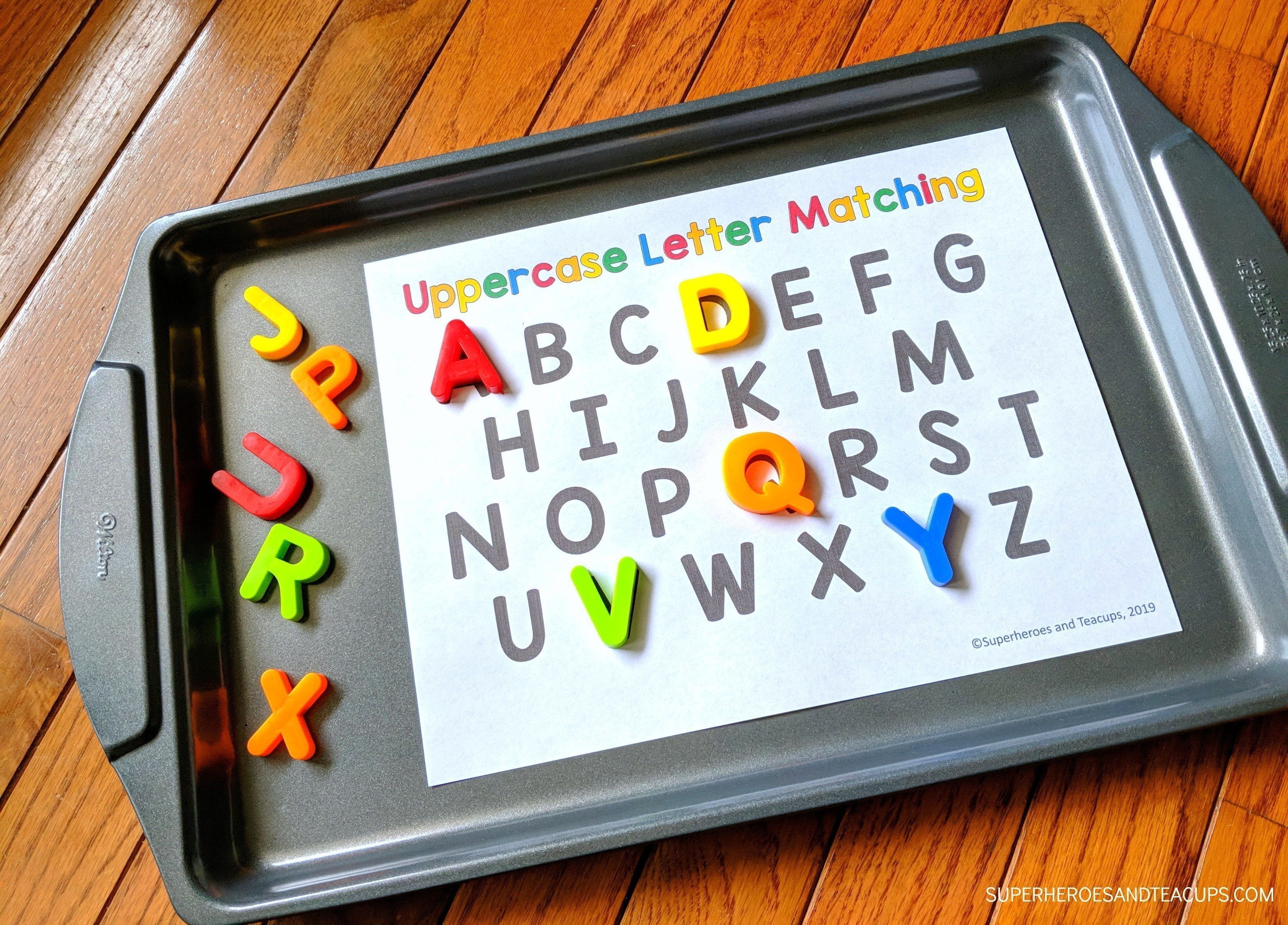 Cookie Sheet Alphabet Activities Uppercase Letter Matching