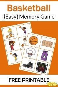 Basketball Memory Game Free Printable