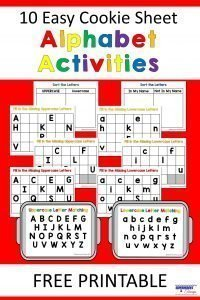 10 Easy Cookie Sheet Alphabet Activities