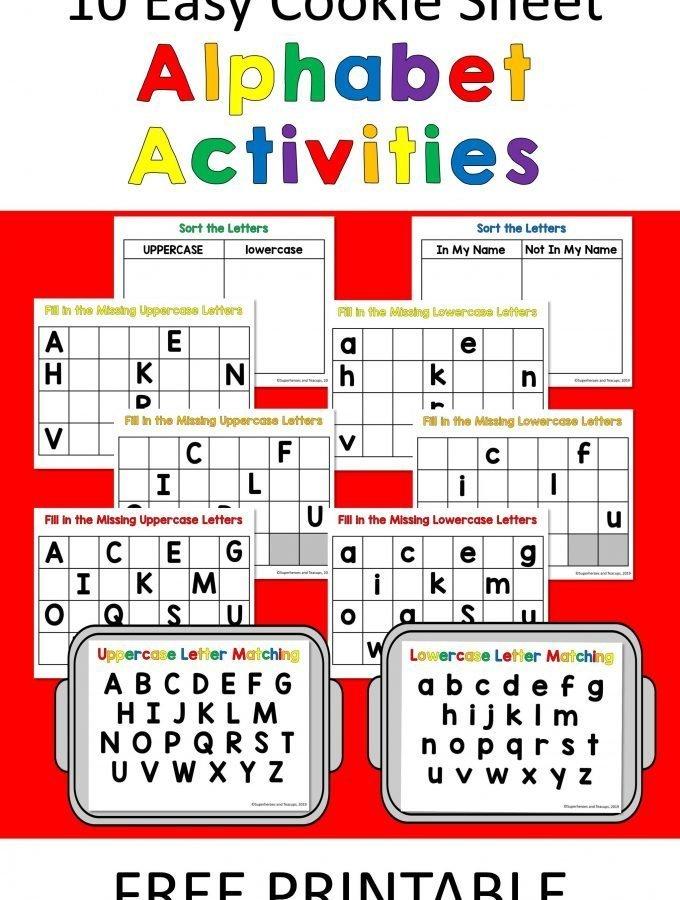 10 Easy Cookie Sheet Alphabet Activities