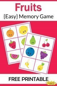 Fruits Memory Game Free Printable