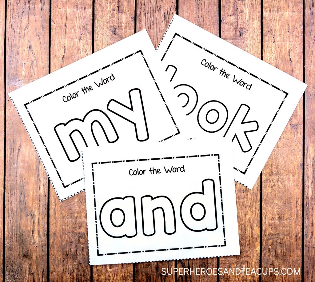 Color the Sight Word Activity