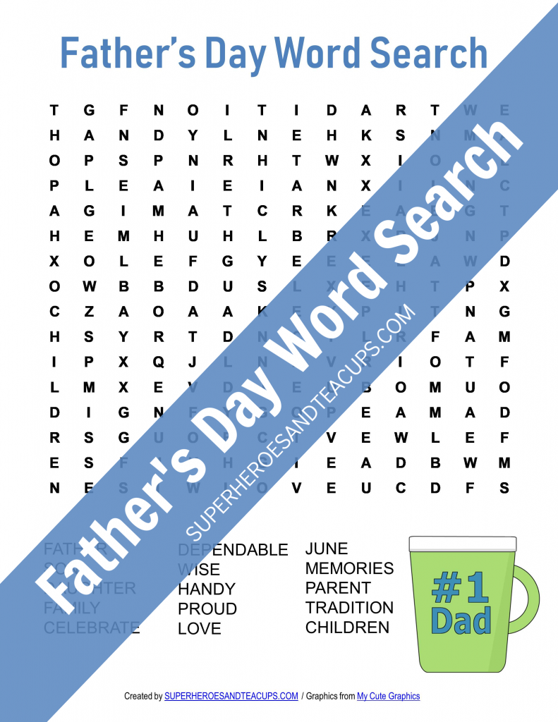 Father's Day Word Search Free Printable