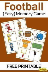 Football Memory Game Free Printable