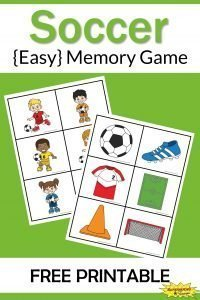 Soccer Memory Game Free Printable