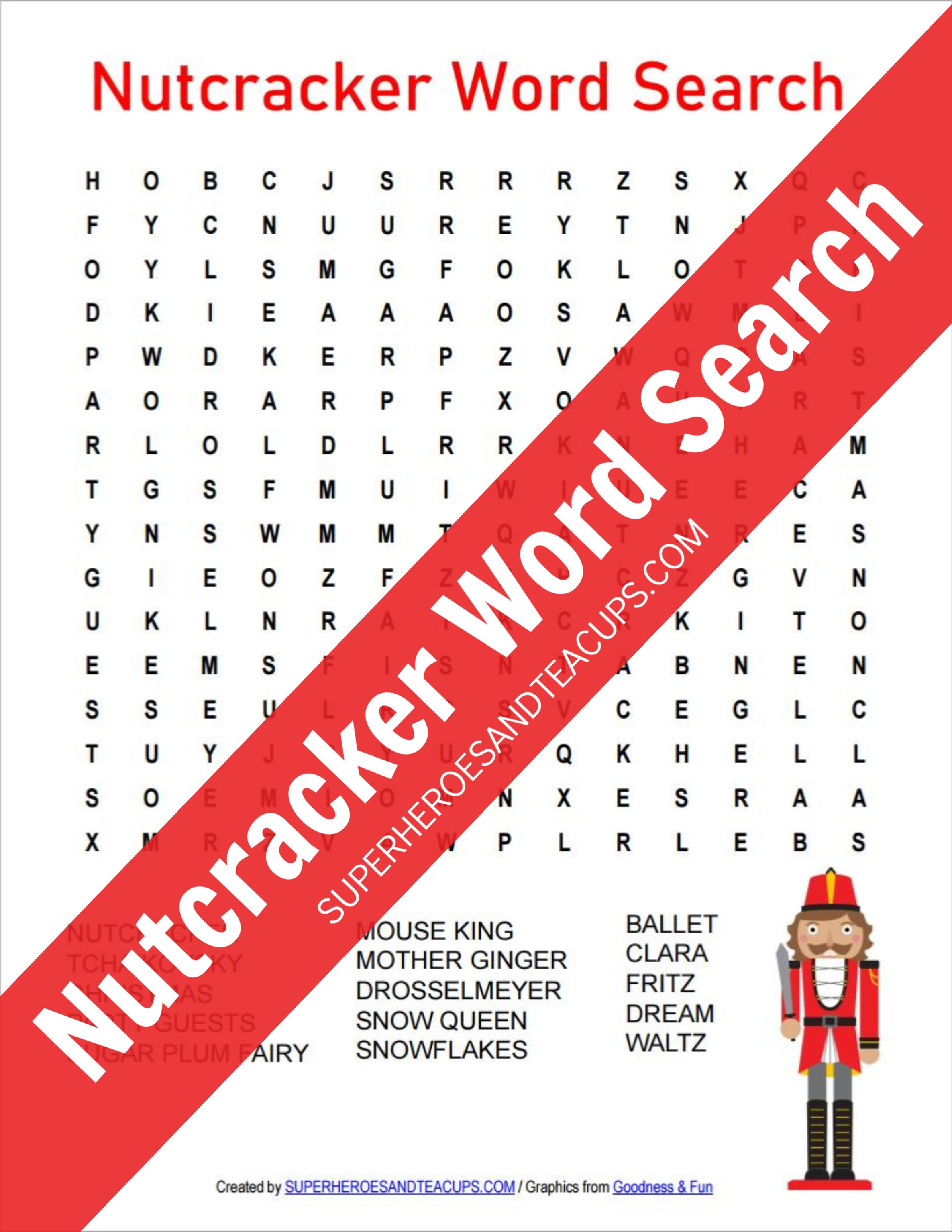 Nutcracker Word Search Free Printable