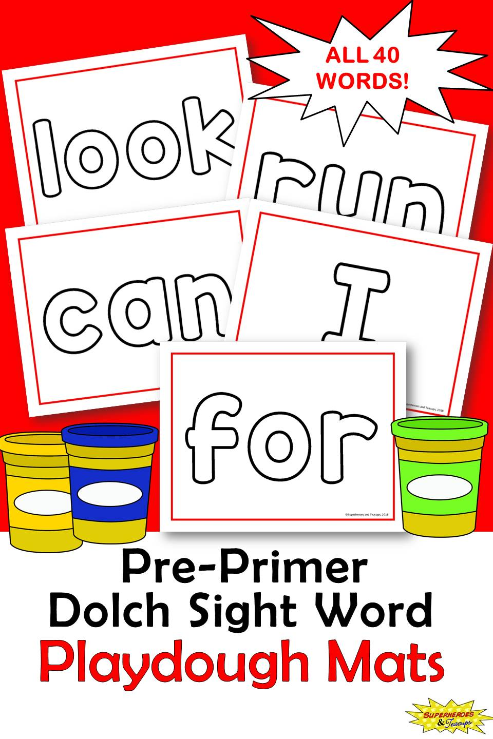 dolch sight word playdough mats pre primer