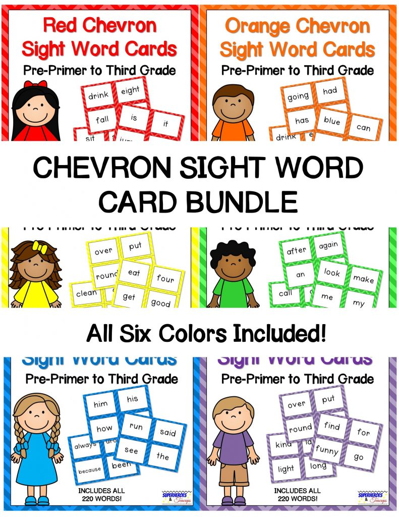 photo regarding Printable Sight Word Cards named Chevron Sight Phrase Playing cards Offer for Early Website visitors
